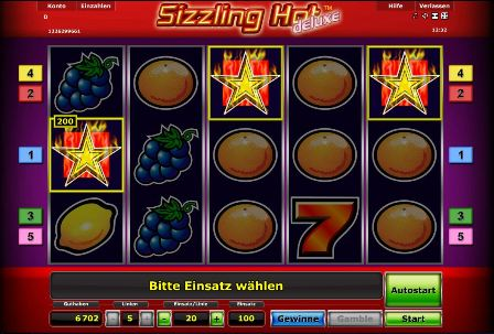 euro casino online sizzlin hot