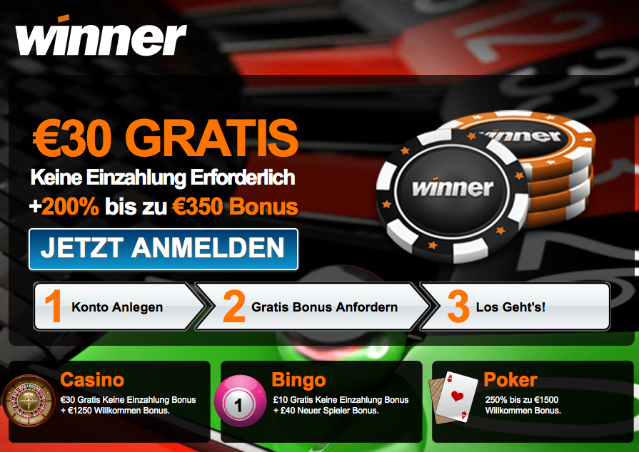 winner casino no deposit