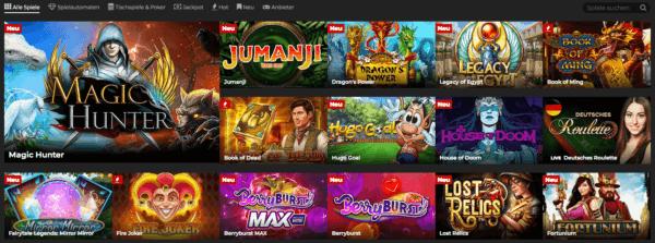 Energy Casino tolles Spieleportfolio