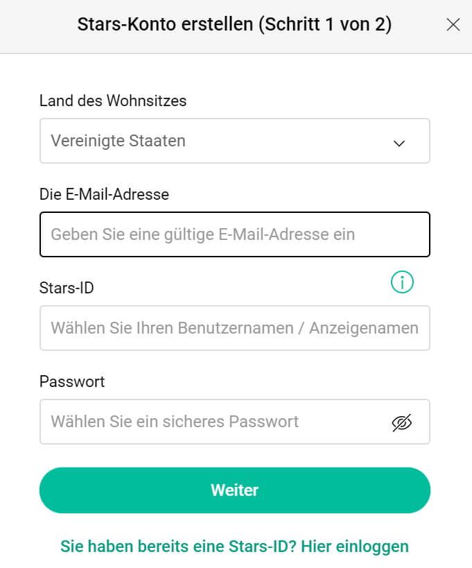 Registrierung: Schritt für Schritt