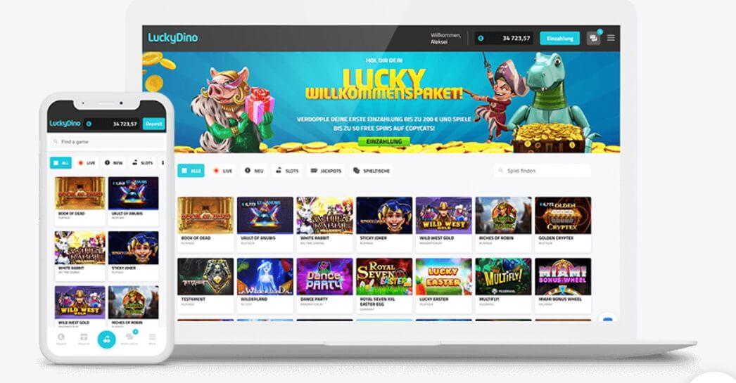 Die LuckyDino Spieleauswahl