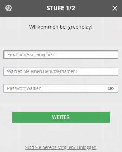 Greenplay Anmeldung
